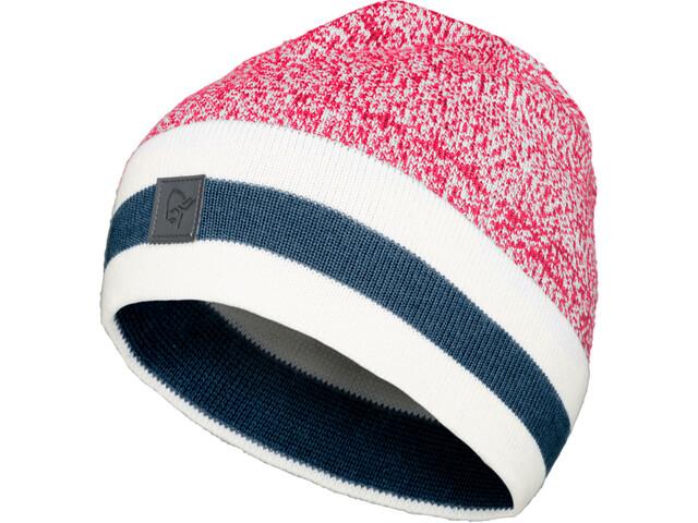 Norrøna /29 Marl Knit Stripe Wool Beanie jester red